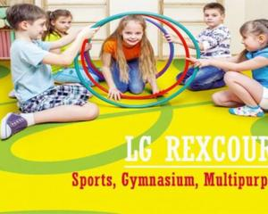 Vinyl Lantai Olahraga gunakan Lg Rexcourt