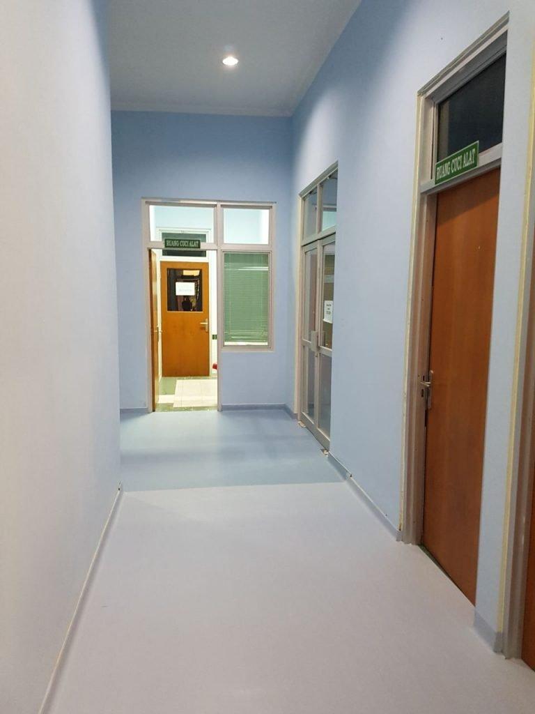 Lantai Medistep Allroad sangat bagus diaplikasikan untuk pelapis lantai rumah sakit