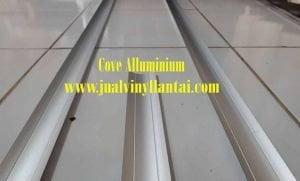 Aksesories Vinyl Lantai dengan menggunakan cove Alluminium